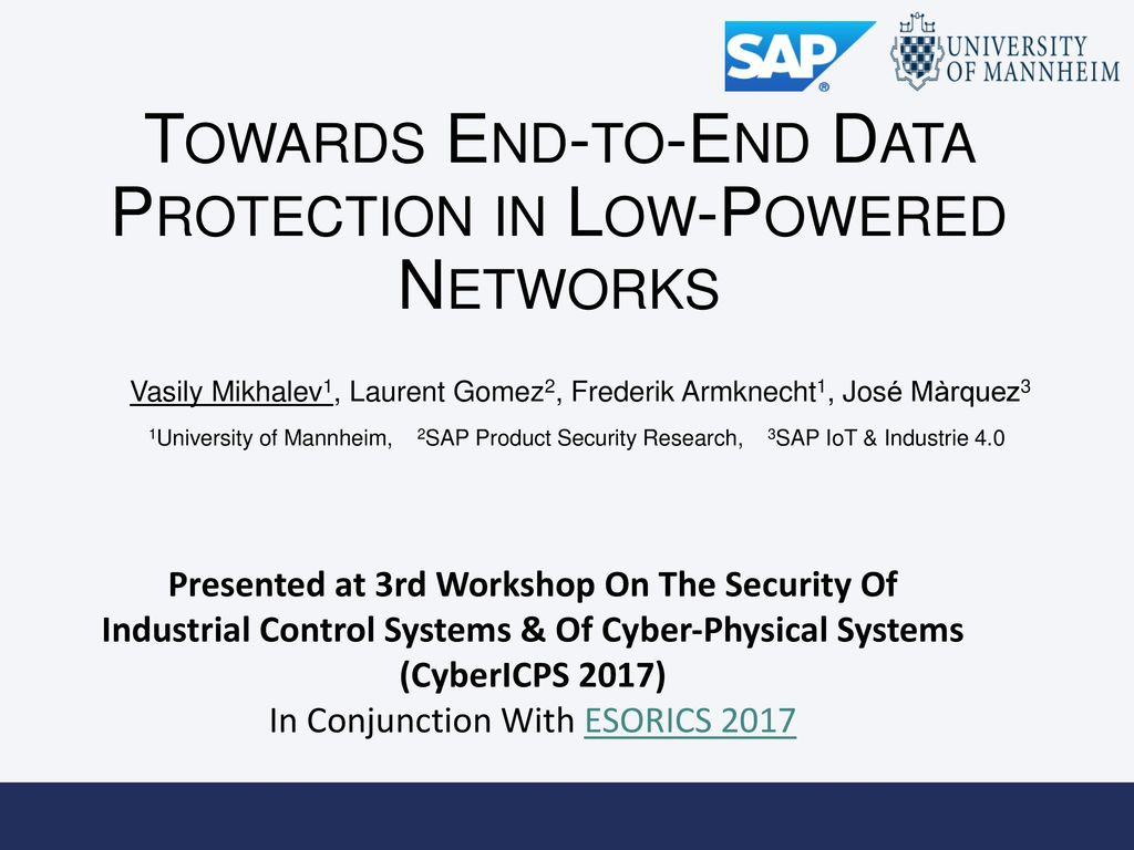 Towards End-to-End Data Protection in Low-Powered Networks
