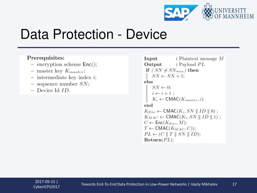 Data Protection - Device