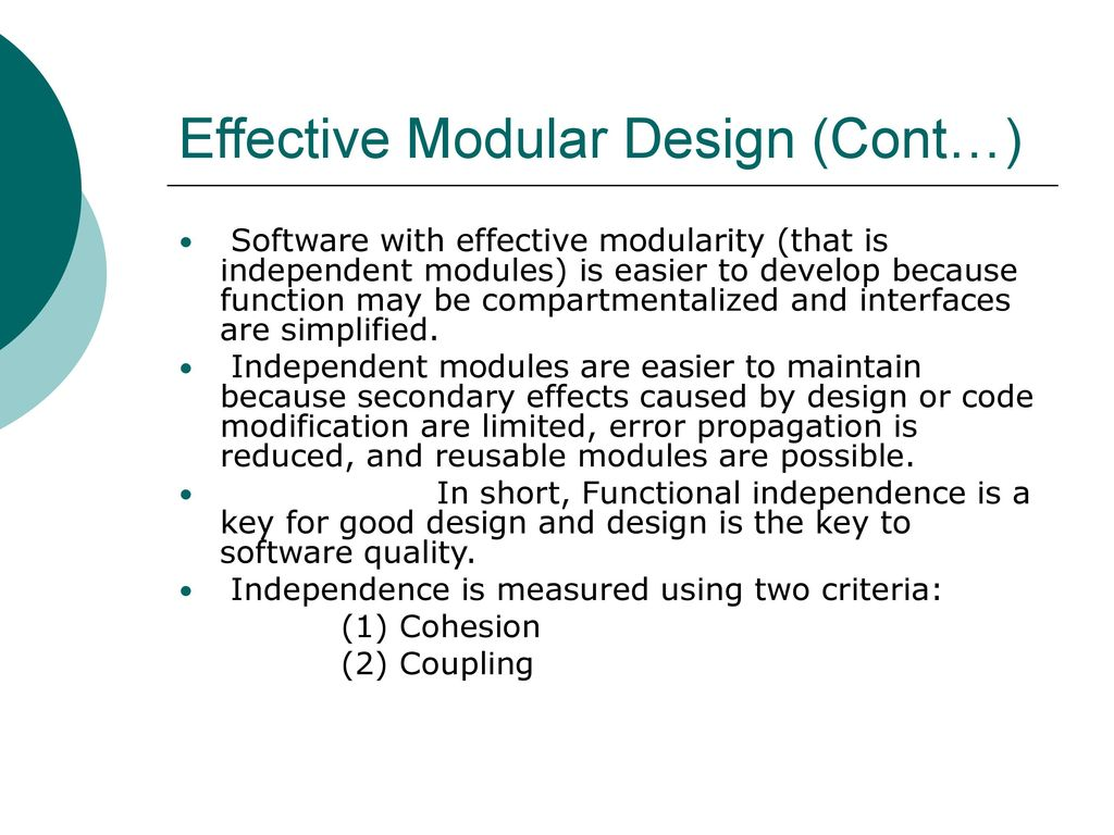 Effective Modular Design Ppt Download
