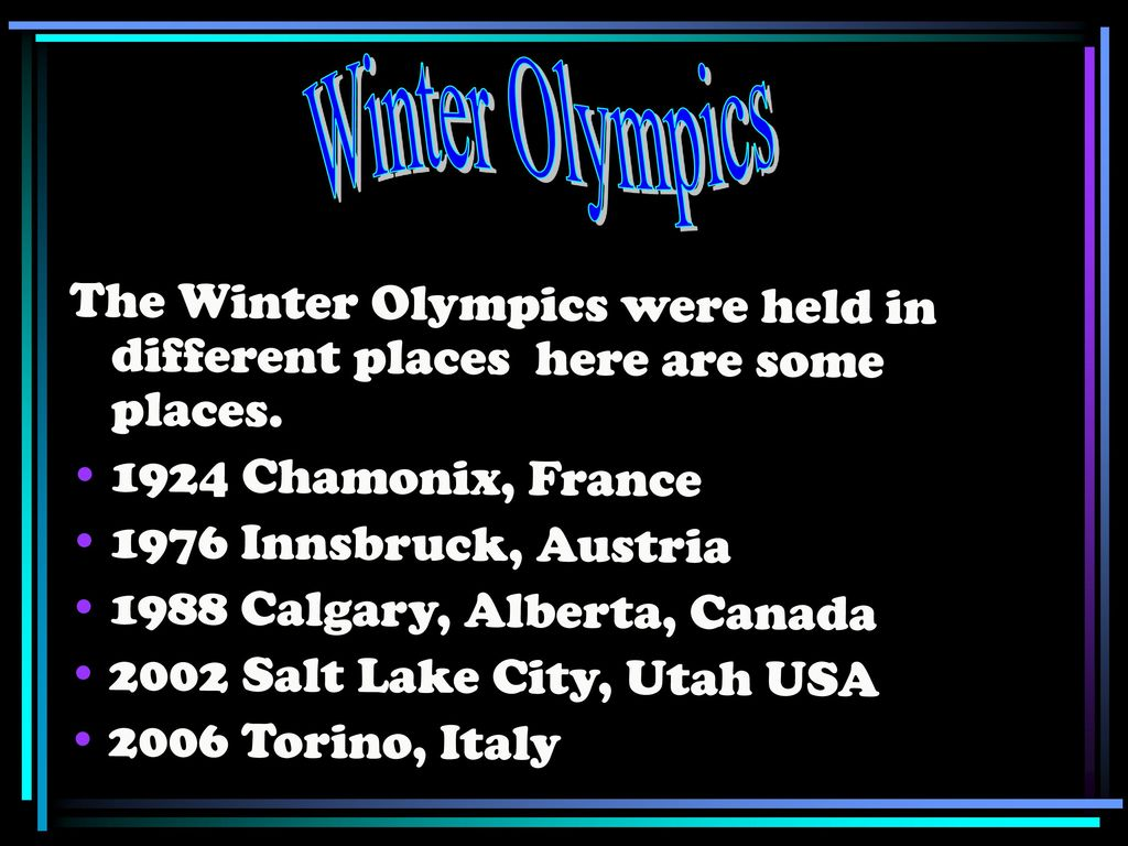 Winter Olympics By: Kaylea Garman ppt download
