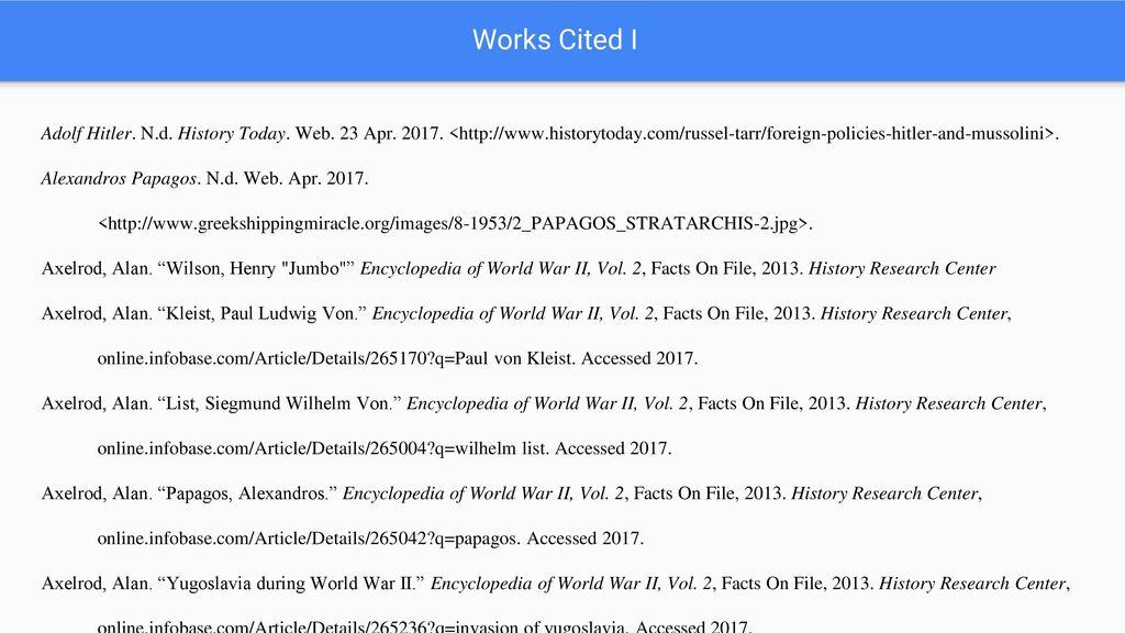 encyclopedia of world war ii axelrod alan