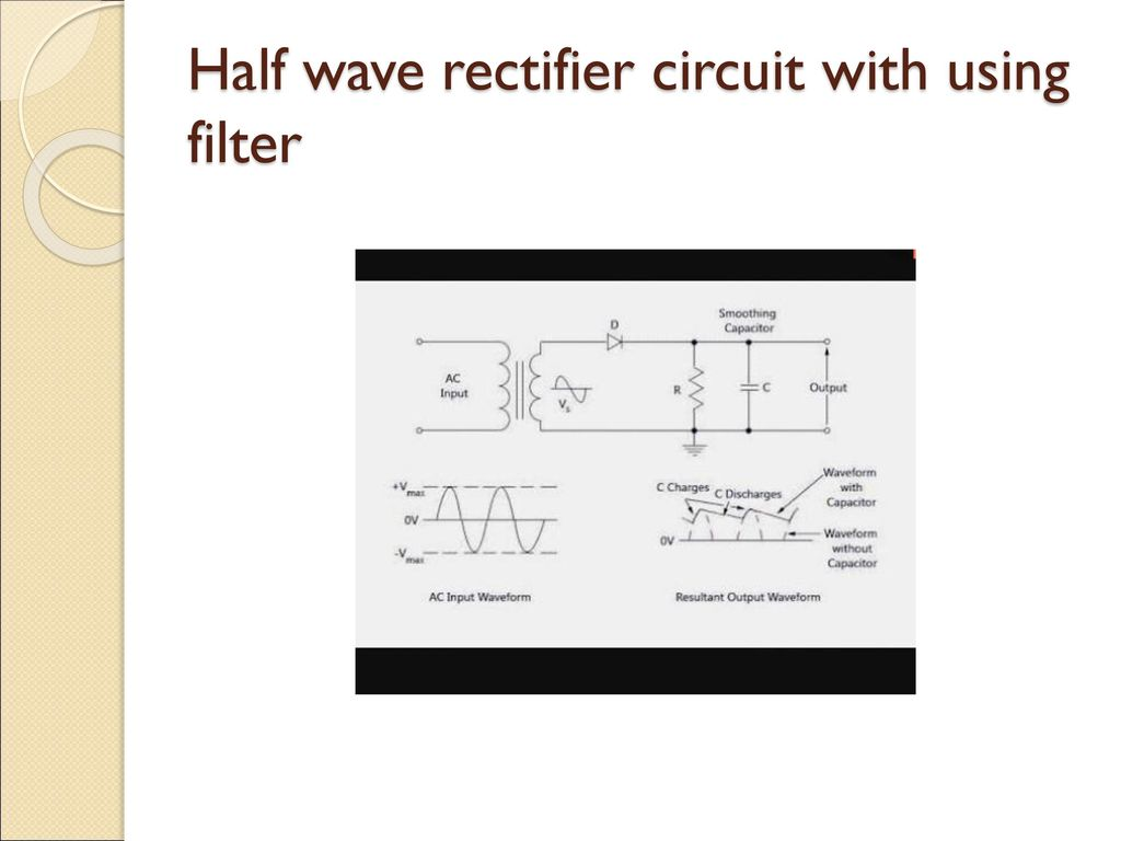 Prepared By Talar Upendra Sodha Akram Ppt Download Capacitor Input Filter Circuit 12 Half Wave Rectifier With Using