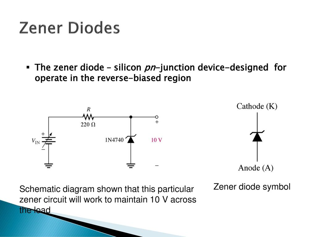 Chapter 2 Diode Applications Ppt Download Circuit Diagram Zener Characteristics 62