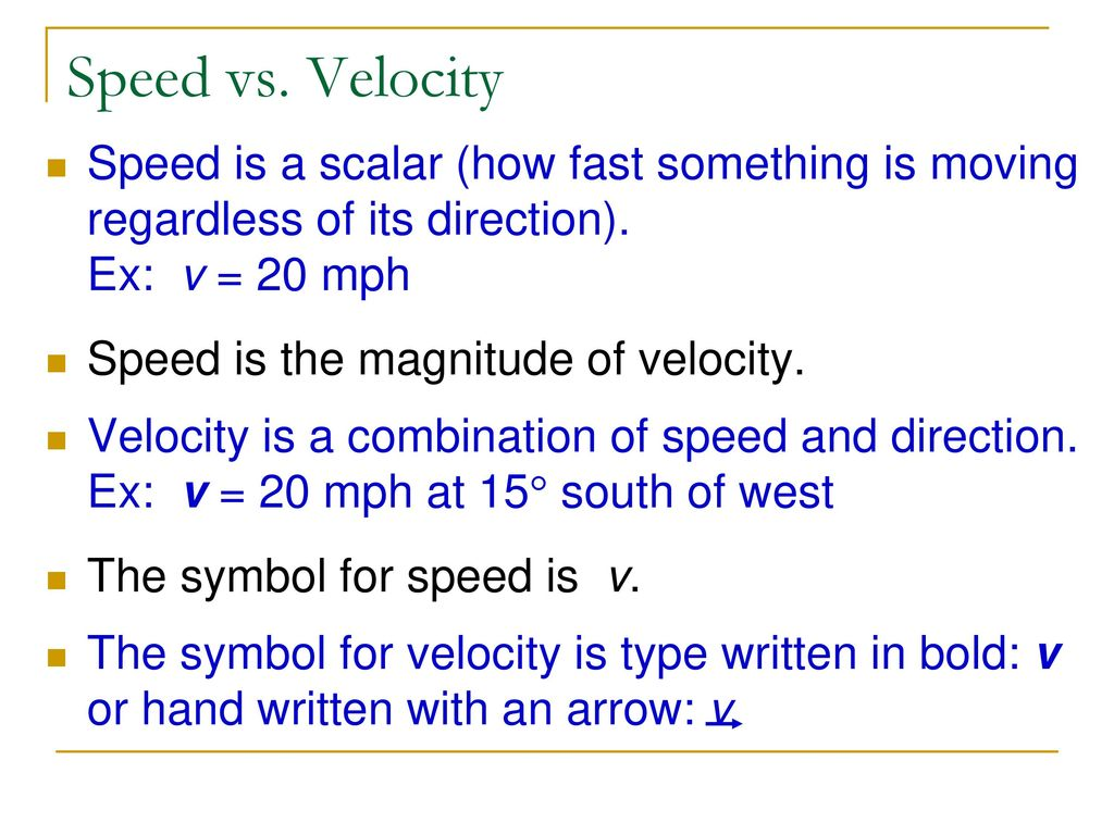 Methods Of Motion Physics I Ppt Download