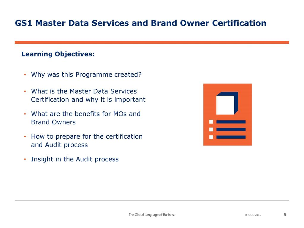 Gs1 Master Data Services And Brand Owner Certification Ppt Download