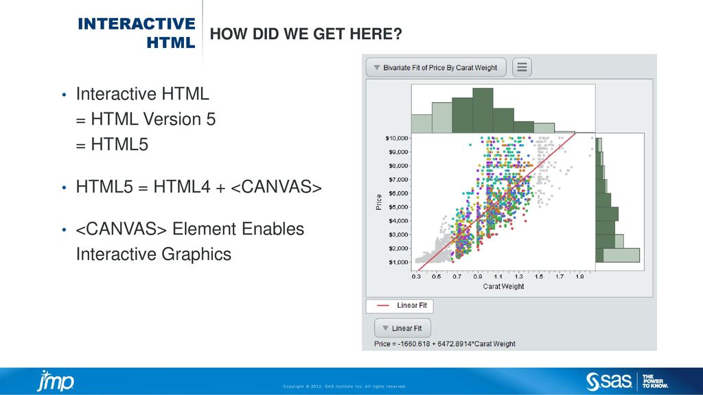 Sharing interactive web reports from JMP® - ppt download