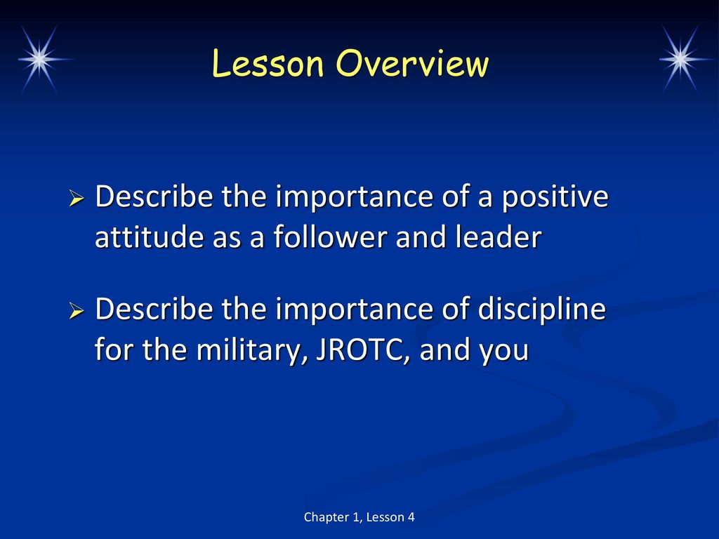 importance of military discipline