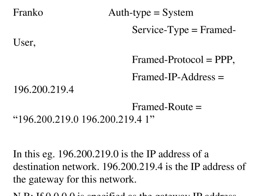 FreeRADIUS Install and Configuration - ppt download