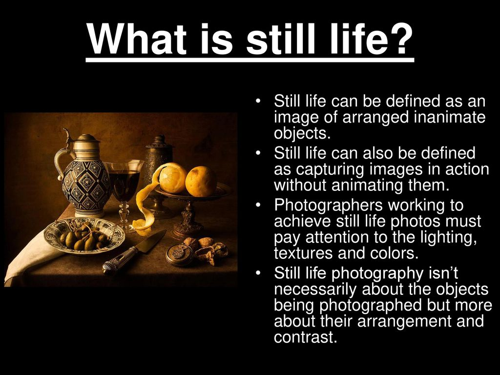 Still Life Photography Ppt Download