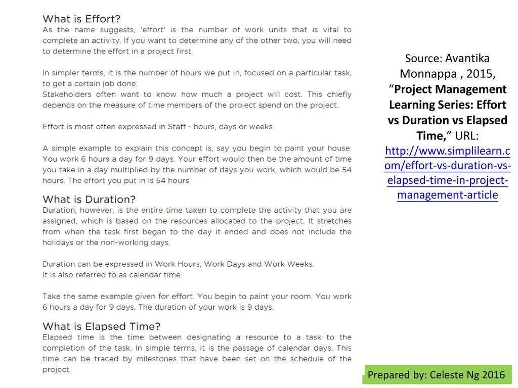 Project Effort vs  Project Duration - ppt download