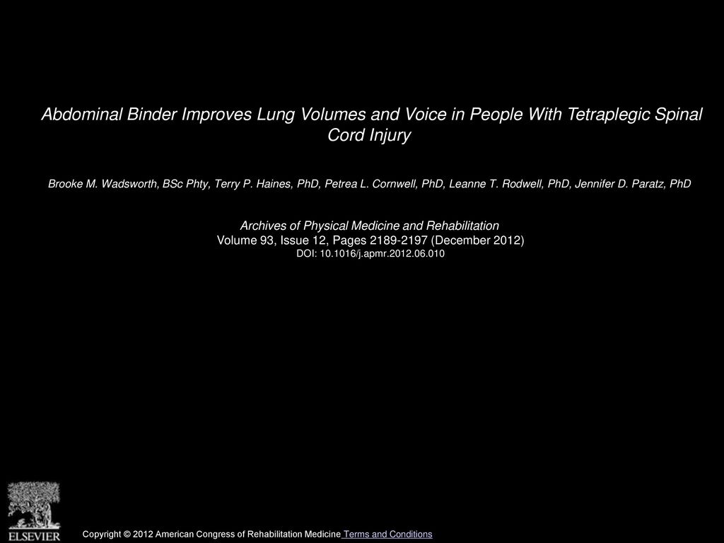 Brooke M Wadsworth Bsc Phty Terry P Haines Phd Petrea L Ppt Download