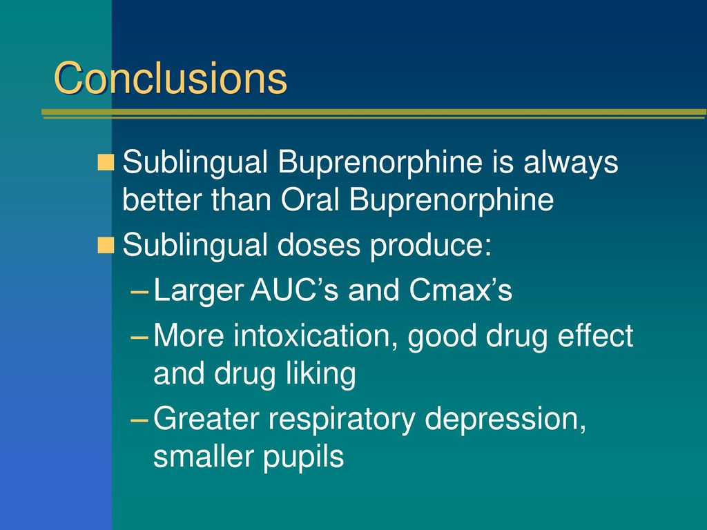Buprenorphine and Naloxone: Clinical Pharmacology Abuse