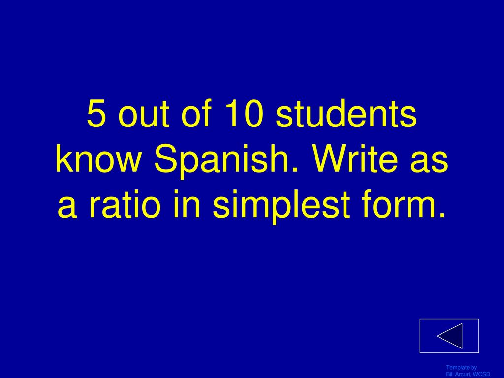 simplest form in spanish  JEOPARDY! UNIT 14 REVIEW Math 14 CCGPS Click Once to Begin ...