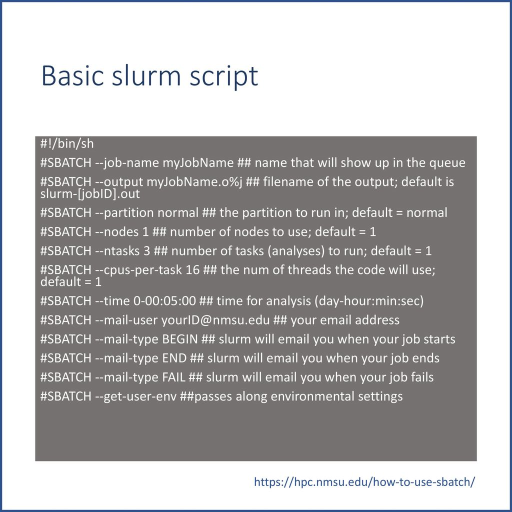 Joker: Getting the most out of the slurm scheduler - ppt