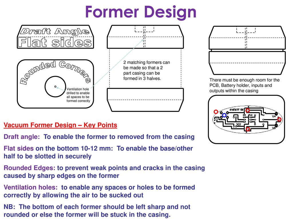 Former Design Draft Angle Flat Sides Rounded Corners Ppt Download Vacuum Diagram