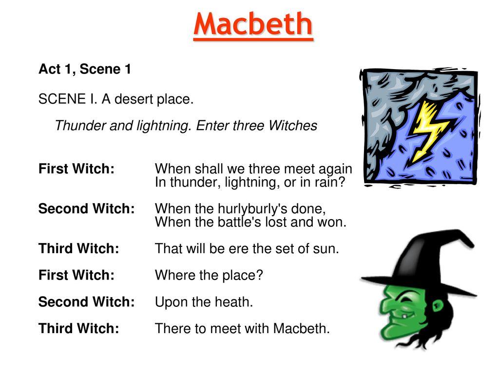 macbeth thunder lightning rain