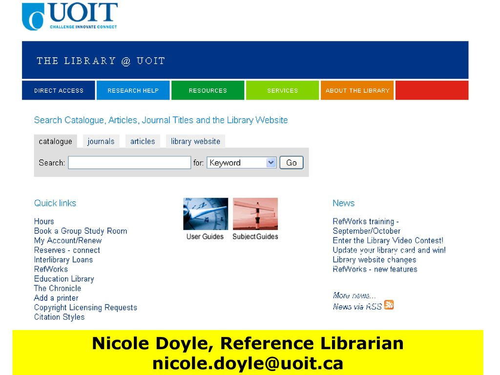 Nicole Doyle, Reference Librarian - ppt download