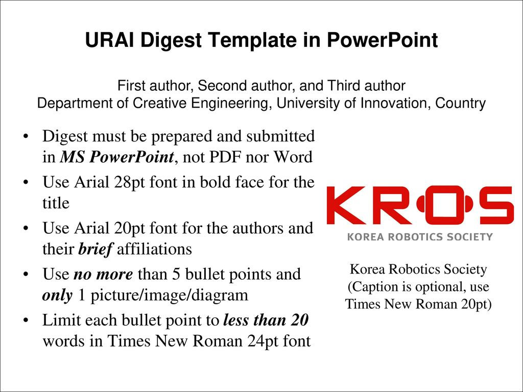 URAI Digest Template in PowerPoint - ppt download