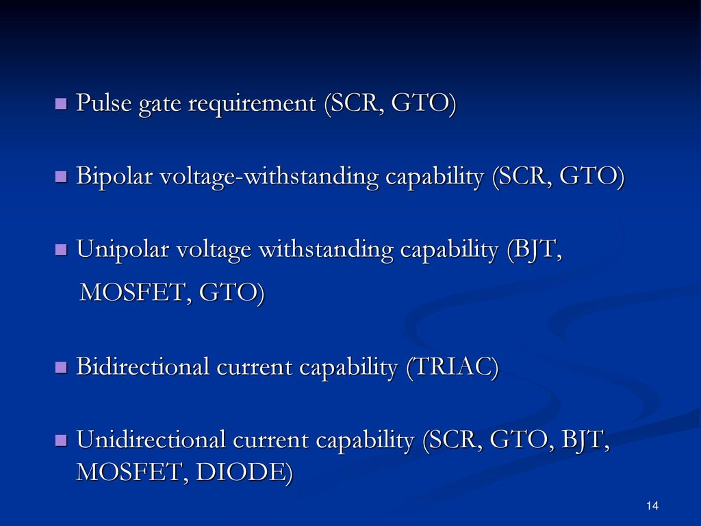 Introduction Power Electronics Ppt Download Bjtmosfet Current Clamp Circuit 14 Mosfet