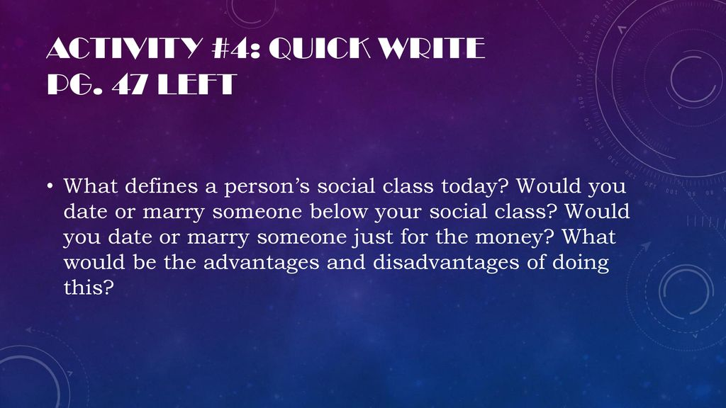 dating below social class