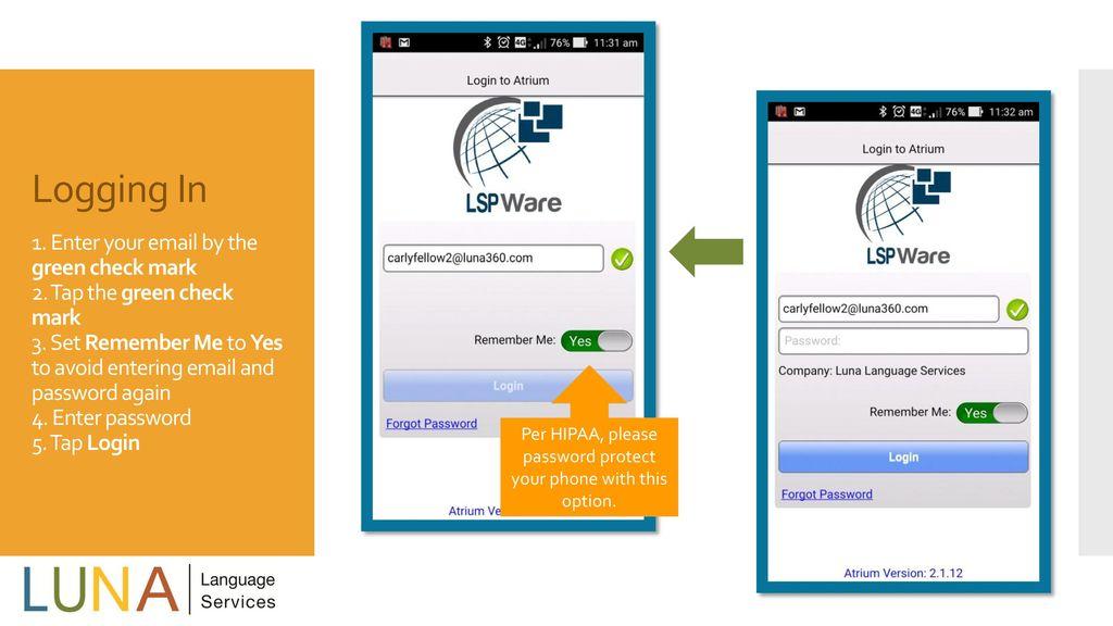 A Tutorial for LUNA's Atrium App A Tutorial for LUNA's