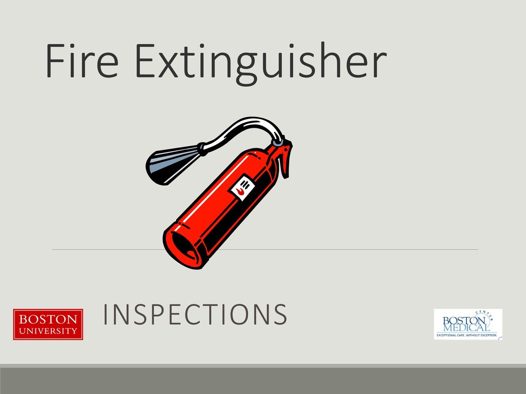 Fire Extinguisher Inspections  - ppt download