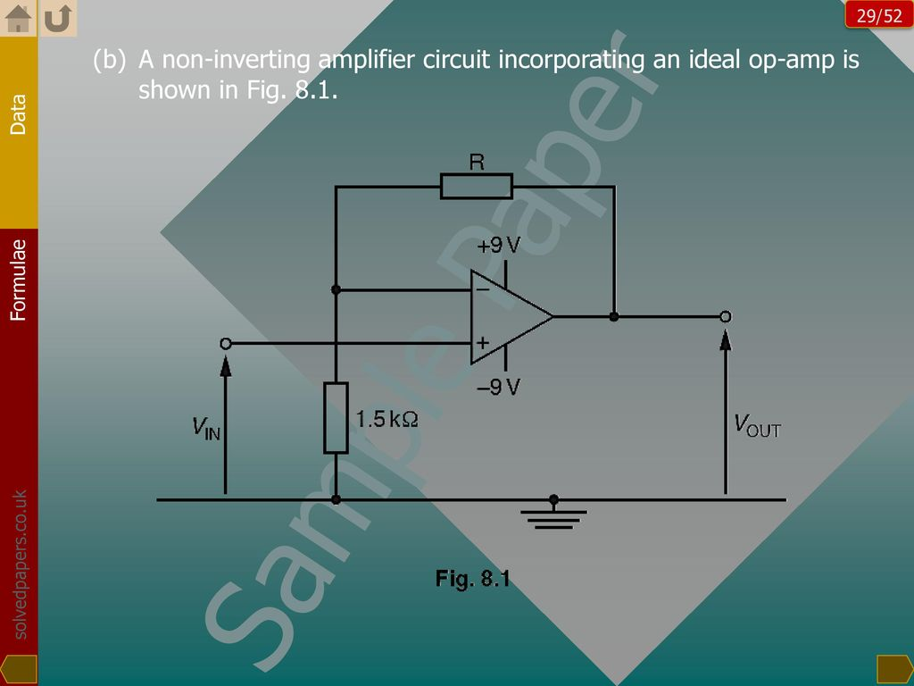 Sample Paper Worked Out Ppt Download Fig 11 Op Amp Non Inverting Amplifier 29 A Circuit Incorporating An Ideal Is Shown In 81