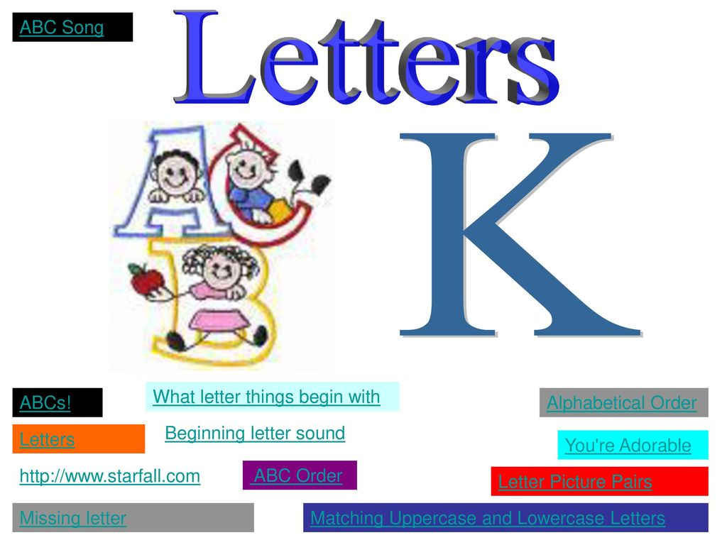 Things With Letter K.Letters Ppt Download
