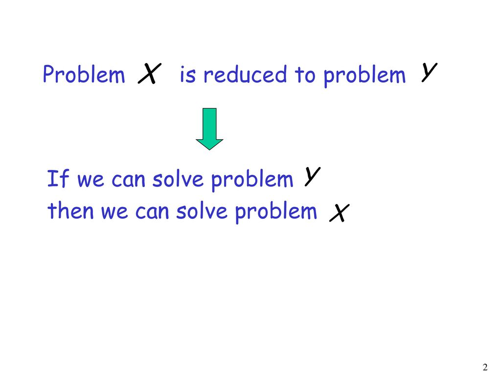 Problem is reduced to problem