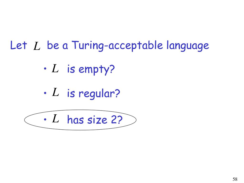 Let be a Turing-acceptable language