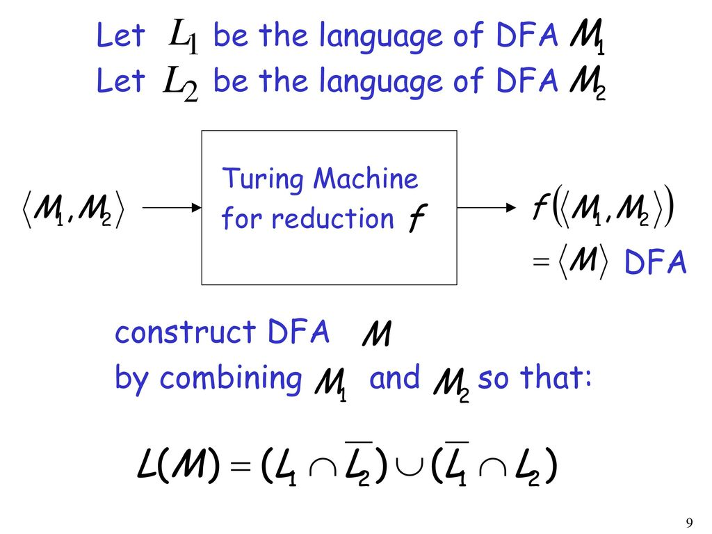 Let be the language of DFA