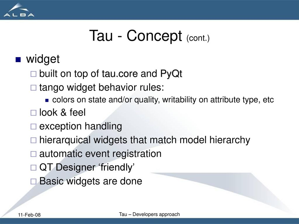 Tau developers aproach - ppt download