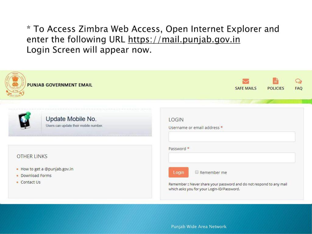 ZIMBRA WEB ACCESS USER MANUAL - ppt download
