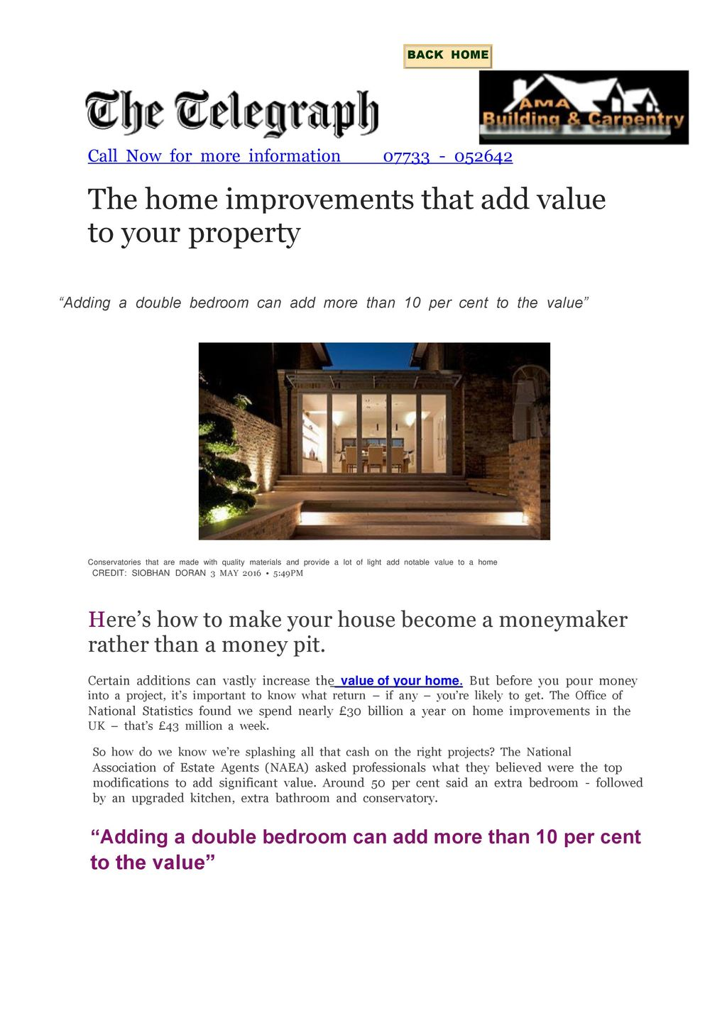 The Home Improvements That Add Value To Your Property Ppt
