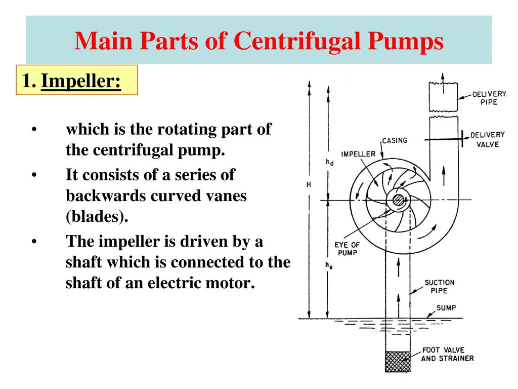 Fluid Mechanics All About Water Pumps Ppt Download On This Turbocharger Diagram You Can See How The Impeller Connects Main Parts Of Centrifugal