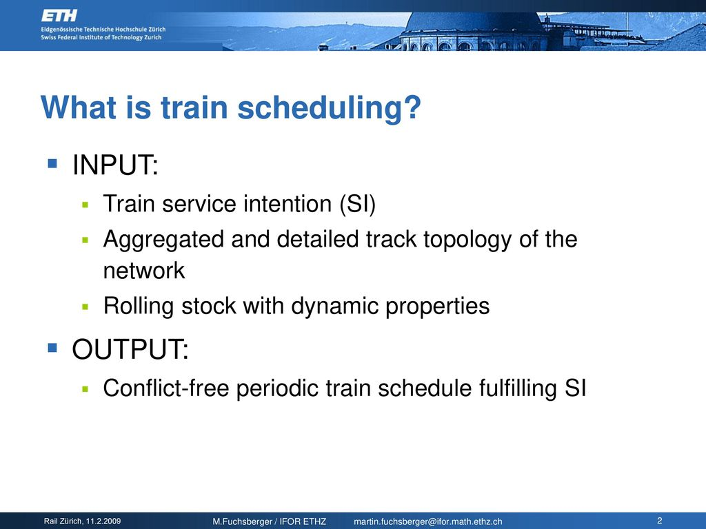 Train scheduling based on speed profiles - ppt download