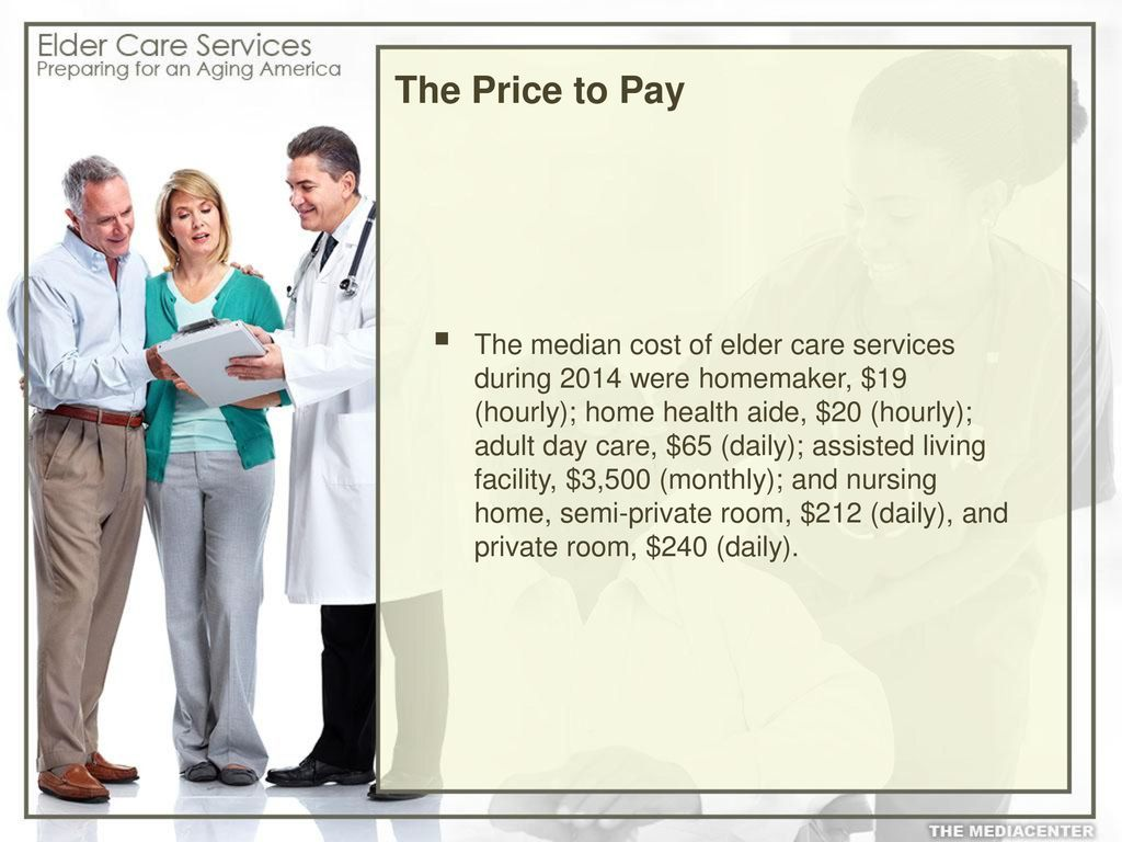 Late, daily costs for adult day care speaking, obvious