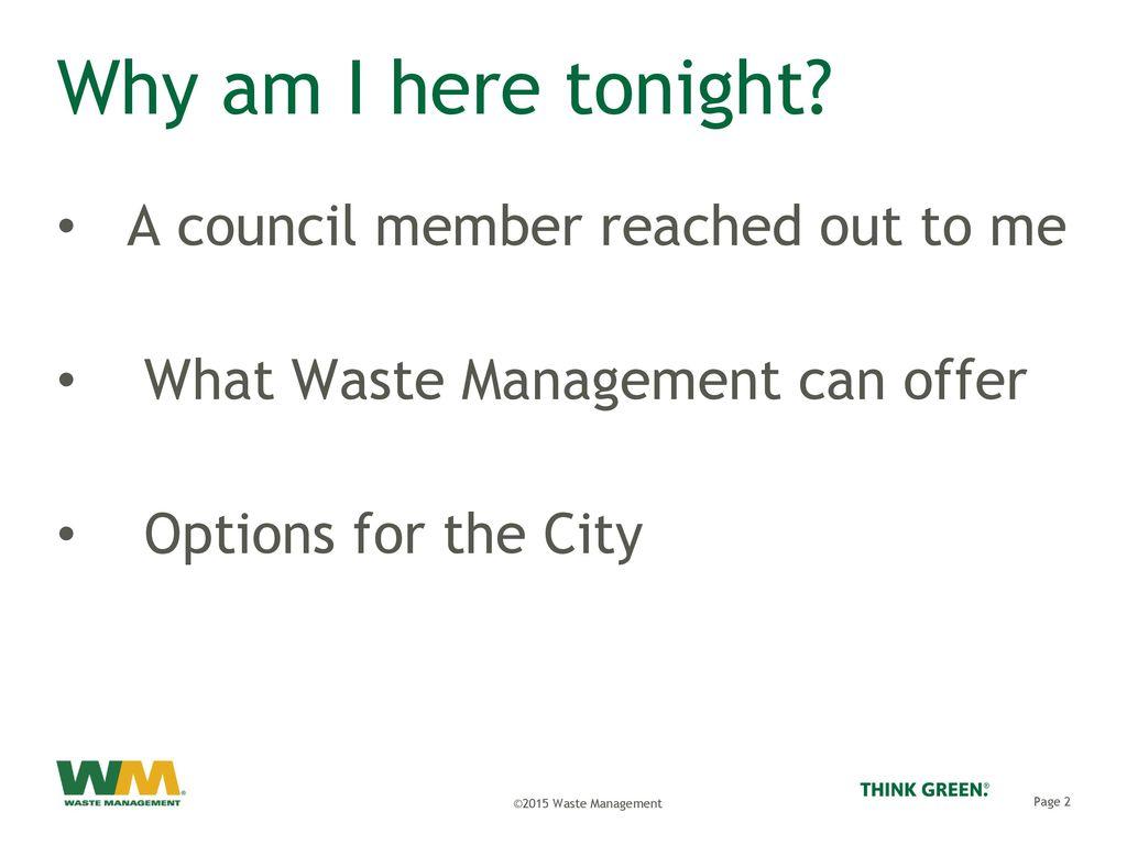 Waste Management Partnership in Sustainability Will Ibershof - ppt