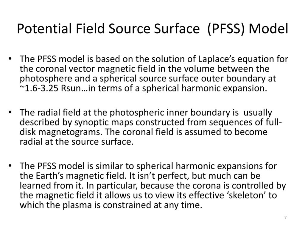 Potential Field Source Surface (PFSS) Model