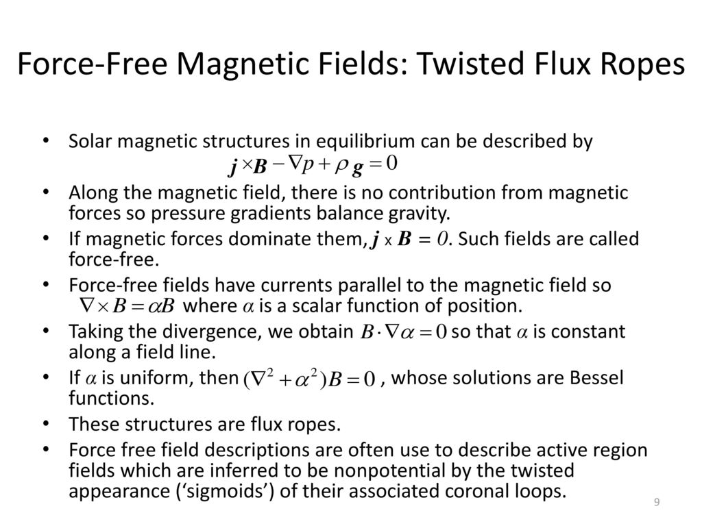 Force-Free Magnetic Fields: Twisted Flux Ropes