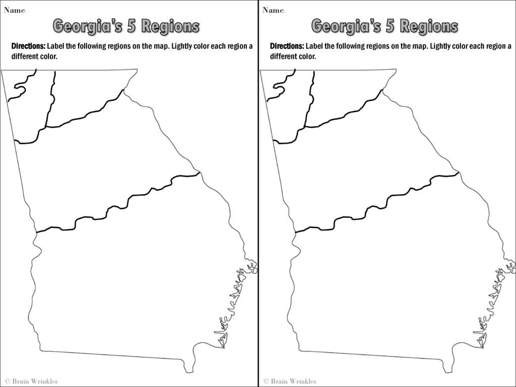 Map Of Georgia 5 Regions.Ss8g1 Describe Georgia S Geography And Climate Ppt Download