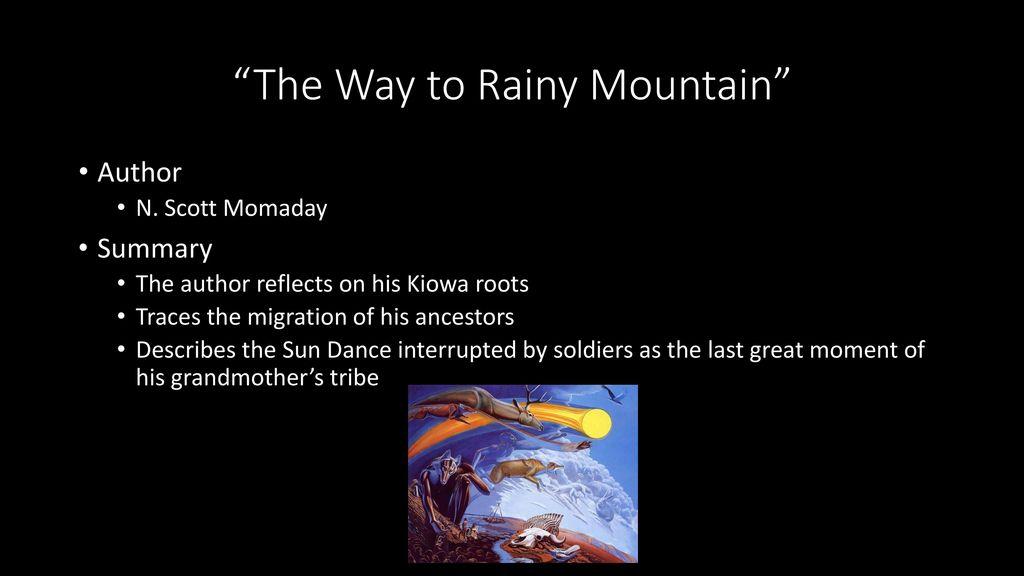 from the way to rainy mountain summary