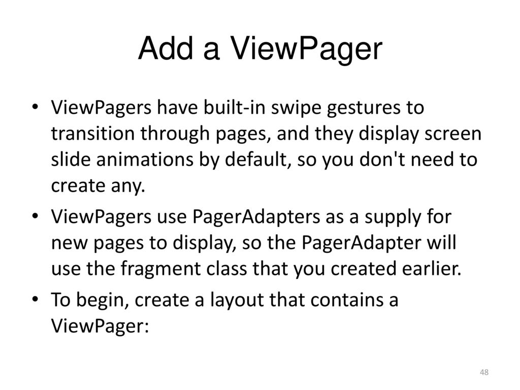 Viewpager Indicator Animation