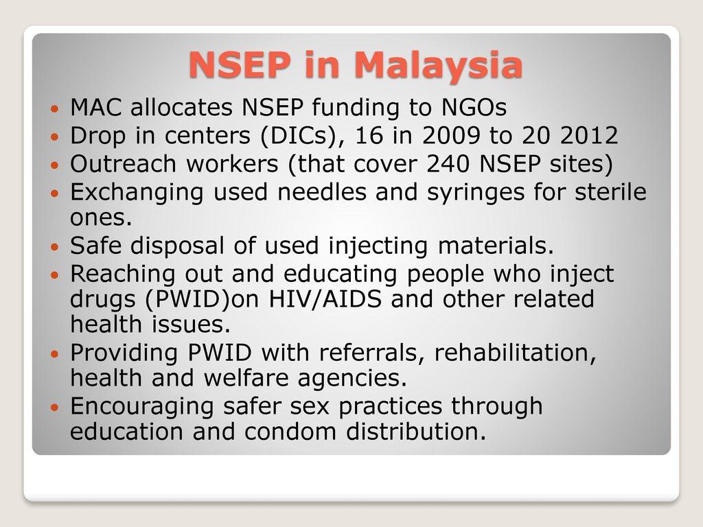 Malaysia: Needle Syringe and Exchange Program (NSEP) - ppt download