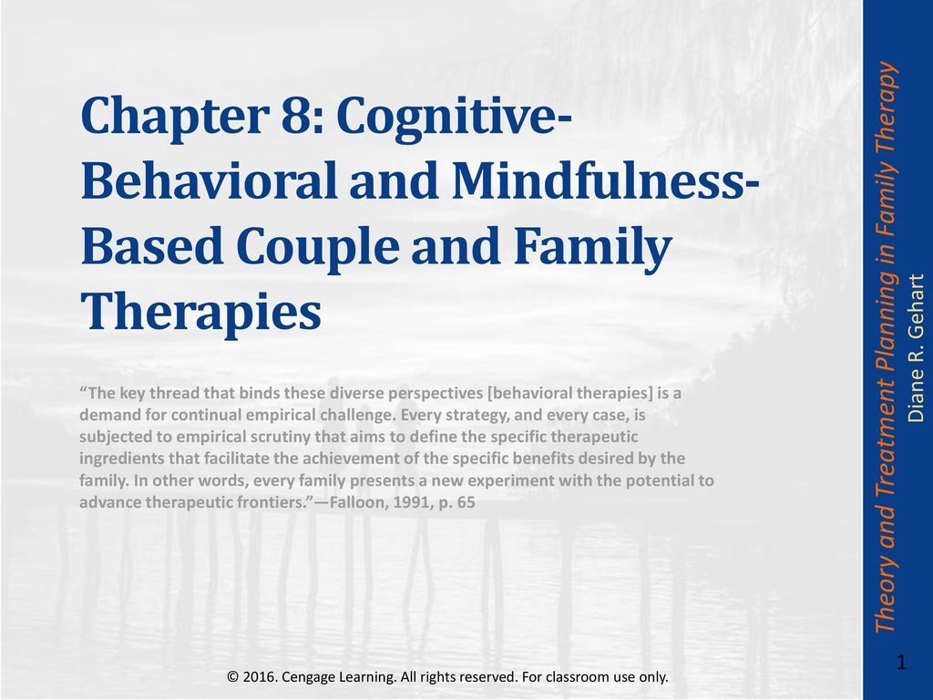 Chapter 8: Cognitive-Behavioral and Mindfulness-Based Couple