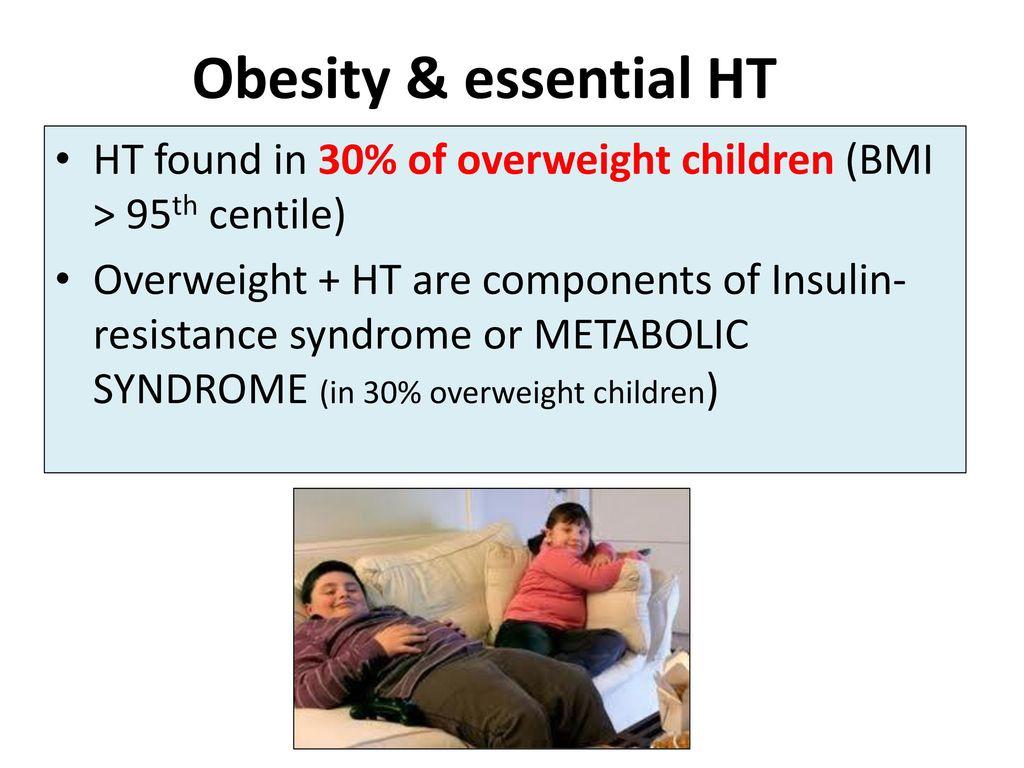Obesity Essential HT Found In 30 Of Overweight Children BMI 95th