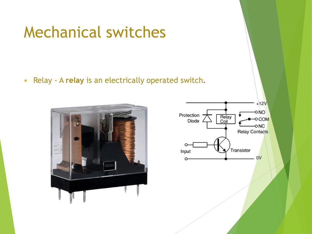 Electrical Actuation Systems Ppt Download Transistors Equivalent Circuit Of A Solid State Relay 5 Mechanical Switches Is An Electrically Operated Switch