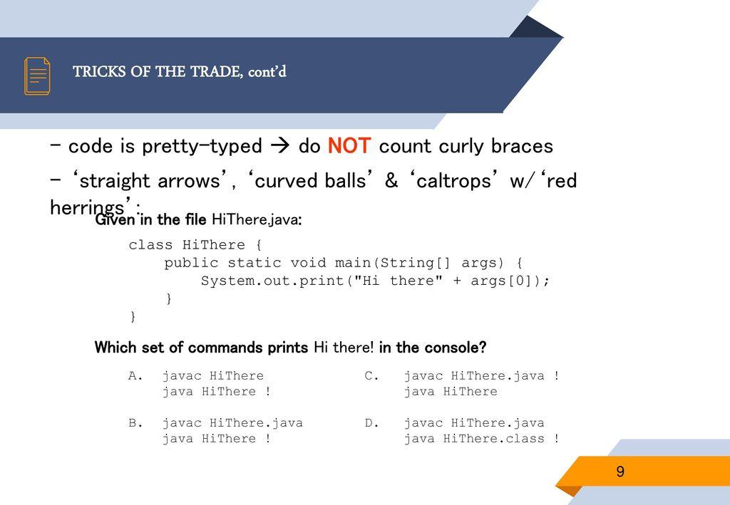 Oracle Java SE 8 Programmer I Certification - ppt download