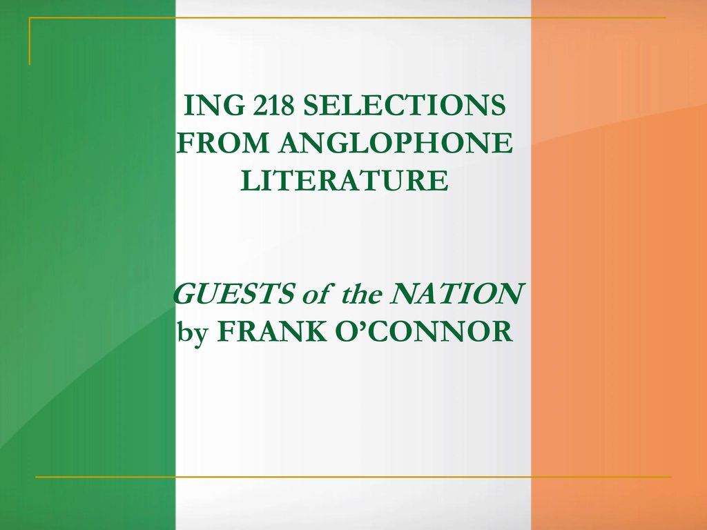 guest of the nation frank o connor