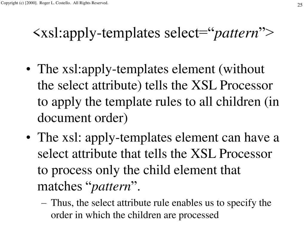 Using XSLT and XPath to Transform XML Documents - ppt download